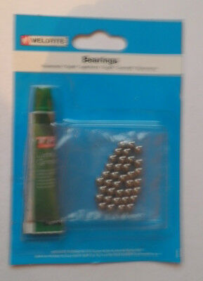 """Weldtite loose Bike Ball Bearings with 5 grms Grease - 1/4"""" 1/8""""  3/16"""" 5/32"""""""