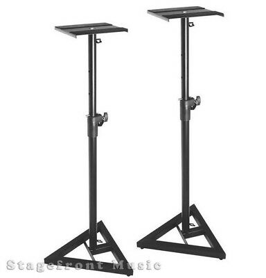 Onstage Adjustable And Portable Studio Monitor Stands (Pair) –Sms6000