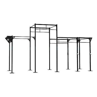 CAPITAL SPORTS Dominate 6 UPRIGHT BAR 8 PULL UP STATION 2 SQUAT HALF RACK POWER