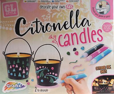 Girls Life by Grafix Decorate your own Citronella Candles Kit Age 8+