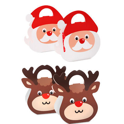 50pcs Christmas Animal Apple Party Paper Favour Gift Cupcake Lunch Carrier Boxes