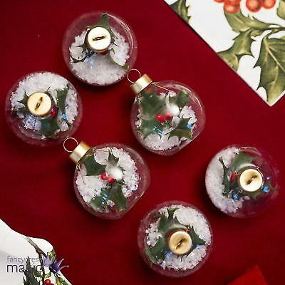 Talking Tables Holly Bauble Placecard Holder Table Setting Christmas Pack 6