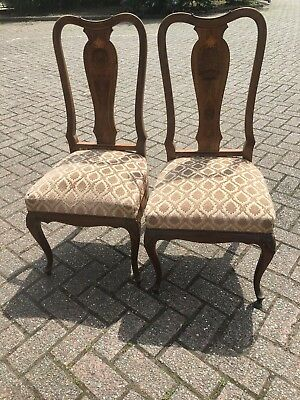 A Beautiful Pair Of French Inlaid Bedroom/ Nursing Chairs