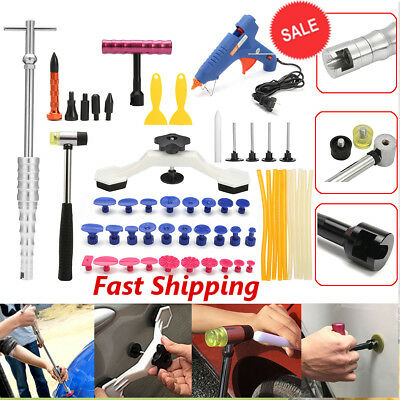 47× PDR Tools Paintless Dent Repair Push Rods Hail Puller Lifter Hammer Tail