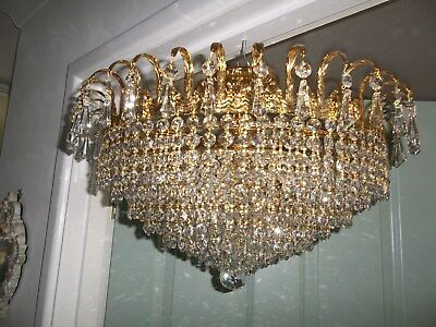 Amazing Large      9Tier Vintage Strass Lead Crystal Chanderlier