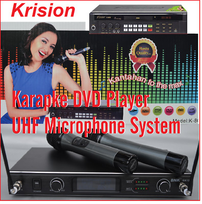 Vol1 20000 English & Togalog Songs MIDI karaoke dvd player + Uhf 2 handhold Mic
