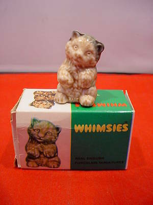 Vintage Wade Whimsies 1973 Bear Cub No. 11 MINT with Original Green Box England