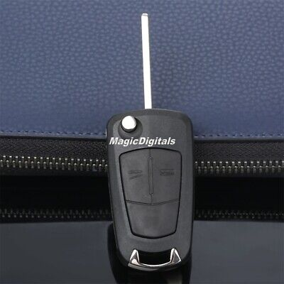 Remote 2 Button Flip Key Shell Fob Case For Vauxhall Opel Astra Vectra Corsa