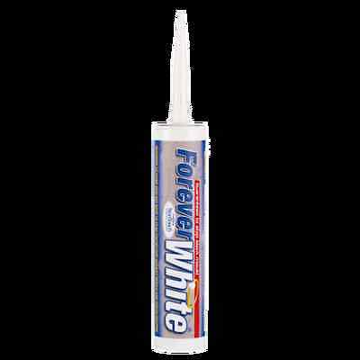 Everbuild Forever White Silicone Sealant C3  - New