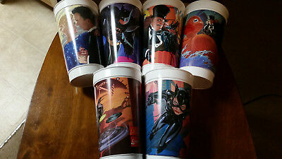 MINT CONDITION!! McDonald's Batman Returns Cups (set of 6)