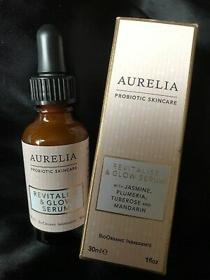 Aurelia Probiotic Skincare  Revitalise & Glow Serum 30Ml New In Box Rrp £57