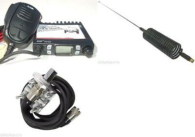 CRT ONE-N CB Radio Kit AM FM UK EU 80 Channel  Mirror Mount and Springer