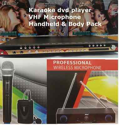 New 99900 English & Togalog Songs  MIDI karake dvd player +VHF Body pack Mic
