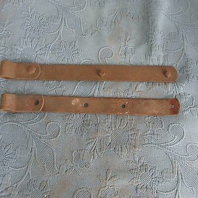 Pair of Antique Iron Gate or Barn Strap Hinges, 19 Inch