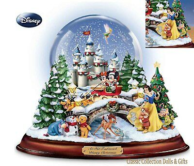 """Bradford Exchange """"an Old Fashioned Disney Christmas"""" Snowglobe- Musical -New !"""