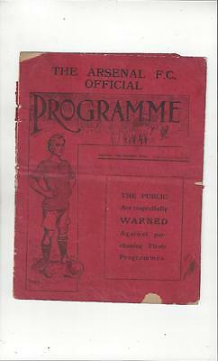 Arsenal v Preston & Tottenham 1914/15 Original Double Football Programme