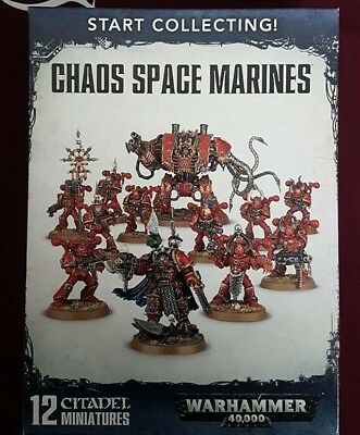 Warhammer 40K Start Collecting: Chaos Space Marines - BNIB - Free White Dwarf
