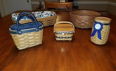 Longaberger Collectable Baskets LOT OF 5