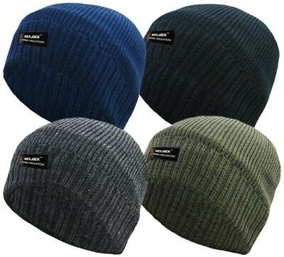 Thermal Beanie Rockjock Thermal Beanie Mens Ladies Winter Fleece Lined Warm