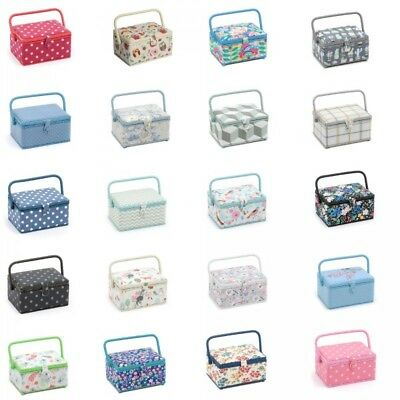 Medium Rectangle Sewing Basket Craft Sewing Box