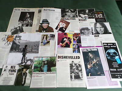 Neil Young -  Rock Music - Clippings /cuttings Pack
