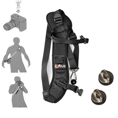 Focus F1 Quick Rapid Shoulder Sling Belt Neck Black Strap for Camera DSLR DV
