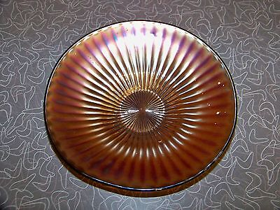 Vintage Smooth Rays Amethyst Purple Carnival Glass Bowl