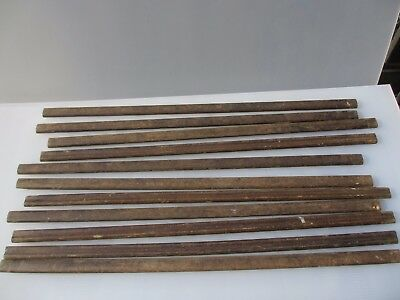 "Vintage Wooden Stair Rods Architectural Antique Bobbin Ribbed Old x11   29.3/8""L"