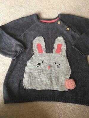 Girls Grey Bunny Rabbit Jumper/ Top By Next Age 3-4 Years