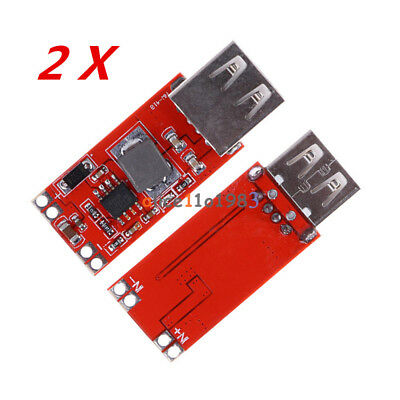 2PCS DC Buck Module 12V/24V to 5V 3A USB Step Down Power Supply For Car Charger