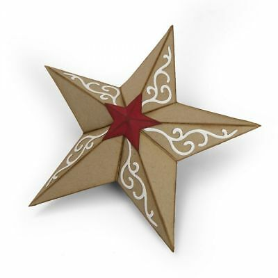 Sizzix - Bigz Die - Christmas Star 3D 662285 Cutting Die - Katelyn Lizardi
