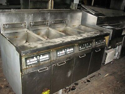 4 Bank Gas Fryers  Frymaster  Price Reduced