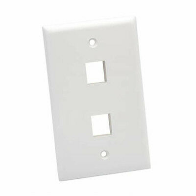 Platinum Tools 602WH25 Standard 2 Port Wall Plate, White, 25pc