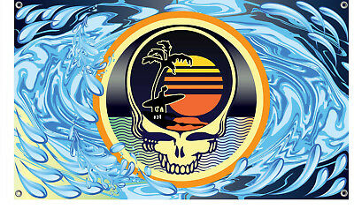 Grateful Dead Steal Your Face Sun and Surf Flag