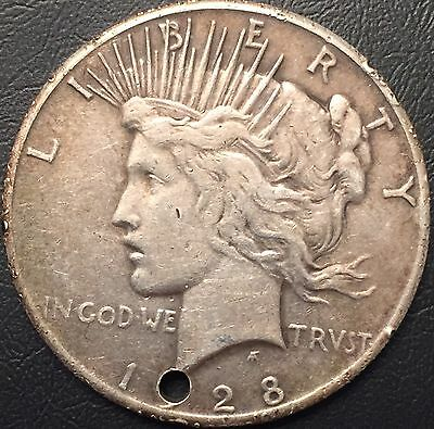 1928 - P Peace Silver Dollar Rare Xf Details Key Date Coin Mintage 360,649