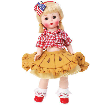 """NEW Madame Alexanders American As Apple Pie 8"""" Tall Doll - 9 Articulation Points"""