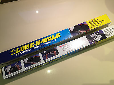 2 for 1! Lube-N-Walk Treadmill Lubrication Lube Kit SILIKONE free shipping! NEW!