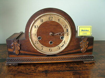 1930's ART DECO HAC WURTTEMBERG WESTMINSTER CHIME MANTLE CLOCK for RESTORATION