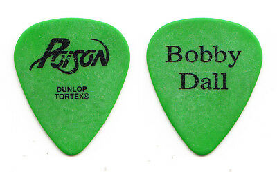 Poison Bobby Dall Signature Green Guitar Pick - 2006 Tour