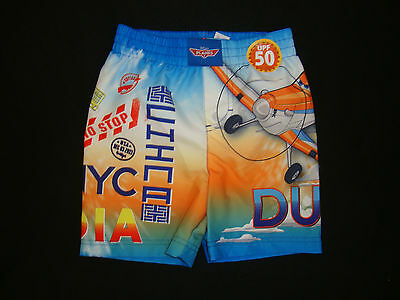 """Disney Planes """"dusty"""" Swimshorts Nwt  Graphics Front & Back"""