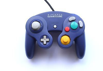 Official Genuine Original Nintendo GameCube Wired Gaming Controller Purple