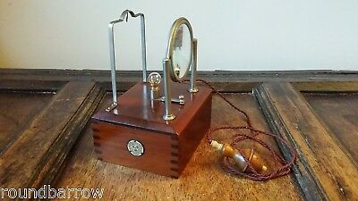 1903 Rare Antique Edwardian Ever Ready Wood Electric Bedside Watch Stand Vgc