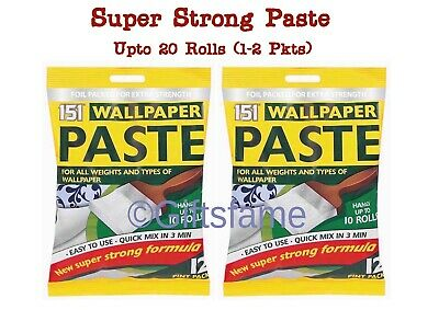 20 Rolls Wallpaper Wall Paper Paste Super Strong Stick Adhesive All Purpose Glue