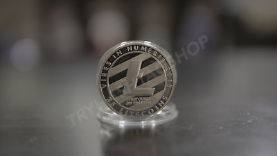 Litecoin Token 1 OZ Silver Plated LTC Medallion Coin SAME DAY SHIPPING!!