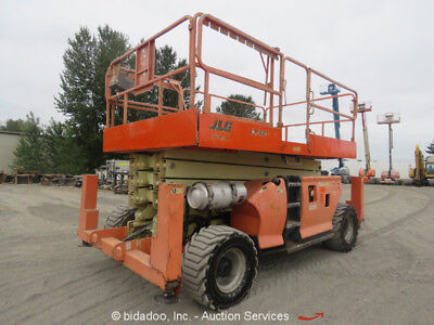 2007 JLG 4394RT 43' 4WD Dual Fuel Scissor Lift Aerial Generator Outriggers