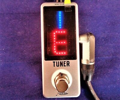 """Rowin Lt-910 Mini """"silent"""" Chromatic Pedal Tuner With True By-Pass"""