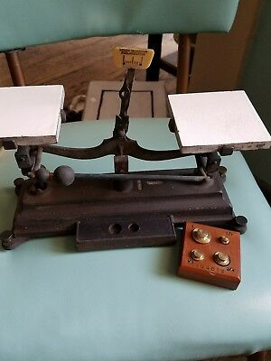 Antique Henry Troemner cast iron balance scale