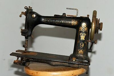 Wheeler and Wilson W9 Antique Treadle Sewing Machine, ca 1895