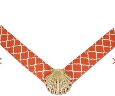 Lindsay Phillips SwitchFlops Large Sawyer Orange  Gold Shell Strap New Package