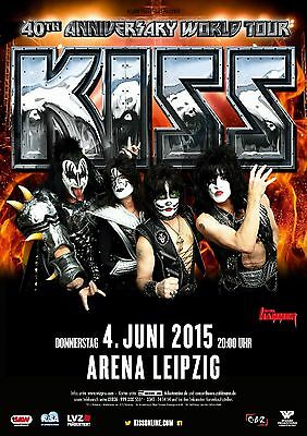 KISS 40th ANNIVERSARY TOUR 2015 LEIPZIG, GERMANY PROMO POSTER